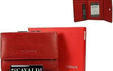 Dámská peněženka z pravé kůže CAVALDI Red