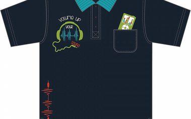 Blue Seven Chlapecké tričko s potiskem Ipodu - tmavě modré, 92 cm
