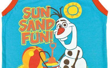 Disney Brand Chlapecké tílko Frozen - Olaf - tyrkysové, 92 cm