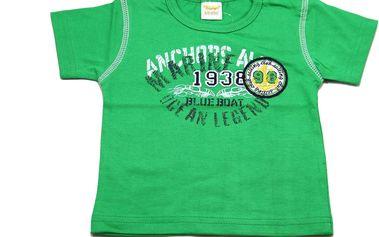 Dirkje Zelené tričko Sailing Club, 62 cm