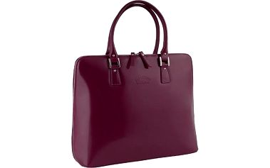 Elegantní dámská kabelka z pravé kůže višňová