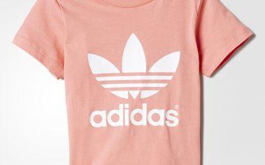 Adidas Dívčí tričko, růžové, 80 cm