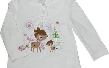 MMDadak Dívčí tričko s jelínkem a knoflíčky, 68