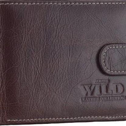 Pánská peněženka z pravé kůže 53542L-2 BROWN