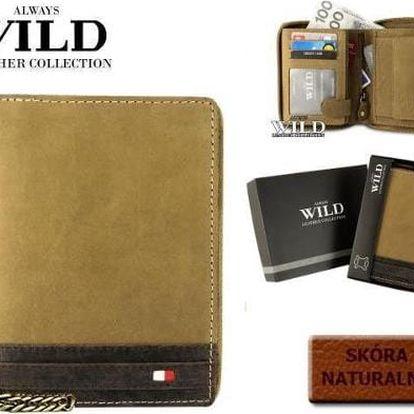 Pánská peněženka z pravé kůže N4ZC-R žlutá