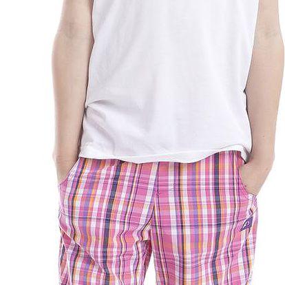 ALPINE PRO Dívčí tričko s potiskem Consalvo - bílé, 110 cm