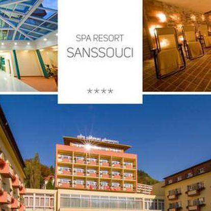 Luxusní wellness s polopenzí a procedurami ve 4* Spa Resortu Sanssouci pro 1 nebo 2 osoby