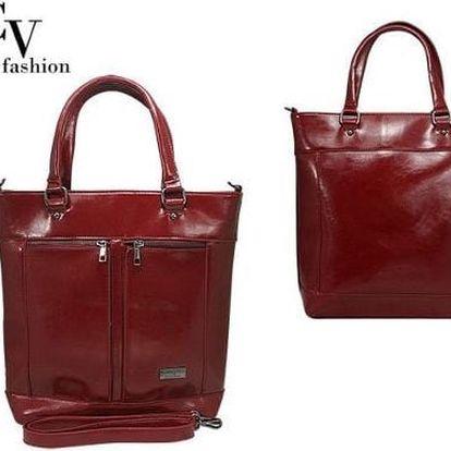 Luxusní dámská kabelka přes rameno Dark Red ekokůže