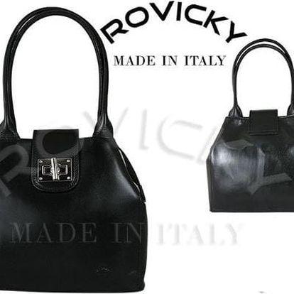Dámská kožená kabelka z pravé italské kůže černá