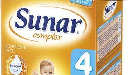 Sunar kojenecké mléko Complex 4 jahoda, 6x600 g