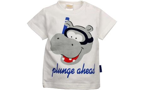 Dirkje Chlapecké tričko s hrošíkem - bílé, 74 cm