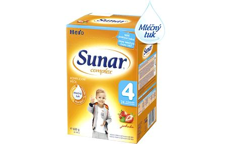 Sunar kojenecké mléko Complex 4 jahoda, 600 g
