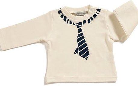 Jacky Bílé tričko s potiskem kravaty, 50 cm