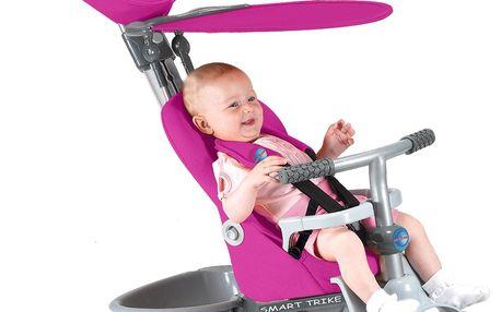 Smart Trike Recliner Stroller tříkolka 4v1 - růžová