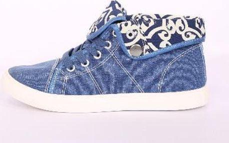 Dámské kotníkové boty modré