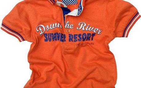Gelati Chlapecké polo tričko s nápisem - oranžové, 68 cm