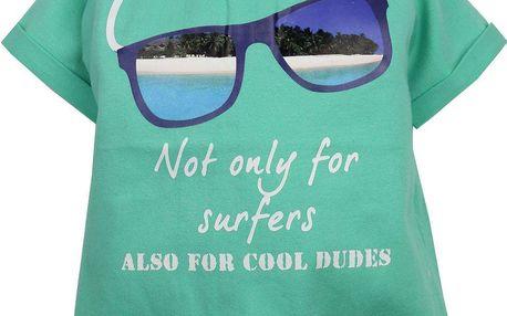 Dirkje Chlapecké tričko s brýlemi - zelené, 80 cm
