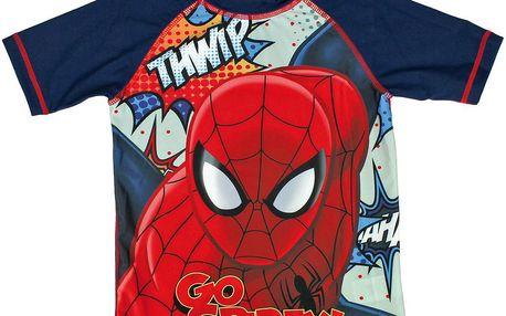 Disney Chlapecké koupací tričko Spiderman - modré, 3 roky