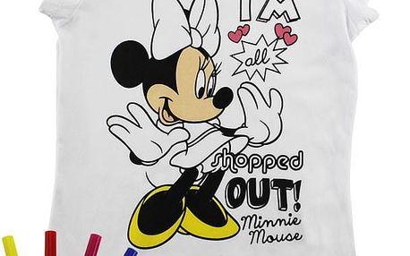 ReDraw Dívčí kreativní tričko Minnie, 110 cm
