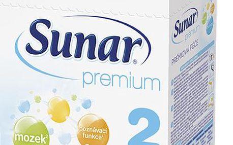 Sunar kojenecké mléko Premium 2, 600g