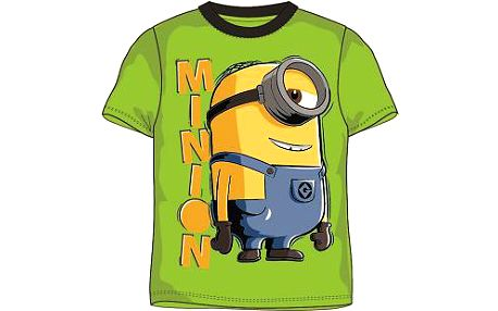 E plus M Chlapecké tričko Mimoni - zelené, 116 cm