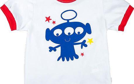 MMDadak Chlapecké tričko s modrou příšerkou Friends - bílé, 68 cm