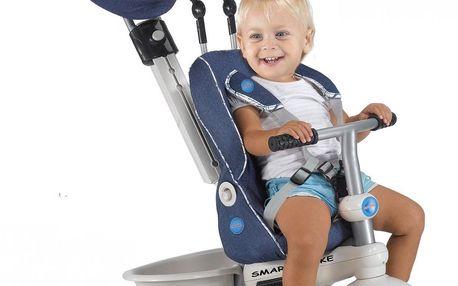 Smart Trike Recliner Stroller tříkolka 4v1 - modrá