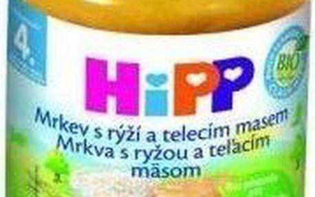 HiPP BIO Mrkev s rýží a telecím masem 6x190g