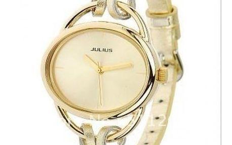 Dámské hodinky s originálním páskem - zlatá barva - dodání do 2 dnů