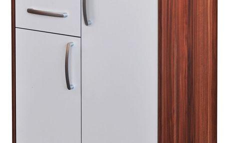 Prádelník 61504 ořech/bílá
