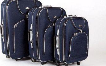 Sada 3 cestovních kufrů na kolečkách se zámkem a výsuvným madlem