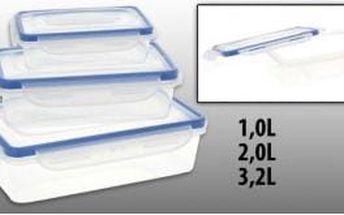 Dóza plastová s klip víčkem sada 3 ks, 1 l / 2 l / 3,2 l ProGarden KO-905823