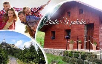 Lužické hory, Chata U potoka na 3 dny mimo víkend pro 2 nebo 4 osoby + welcome raut a sekt