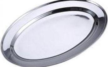 Tác servírovací oválný nerez 35 cm RENBERG RB-3301
