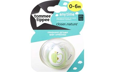 TOMMEE TIPPEE Šidítko CTN silikon Any Time 1ks 0-6m-neutral