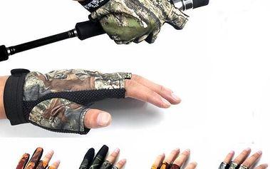 Protiskluzové rybářské rukavice - 4 barvy