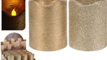 Svíčka led 7x9 cm, zlatá EXCELLENT KO-AAE300100
