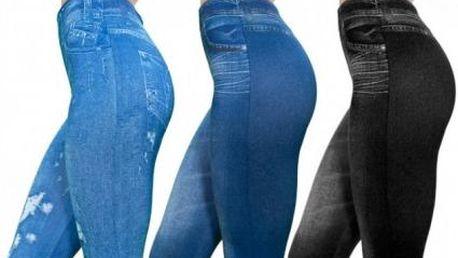 3 kusy jeansových legín v jednom balení. Elastické a skvěle padnoucí legíny, které vyzdvihnou vaše křivky. Na výběr ze dvou velikostí.