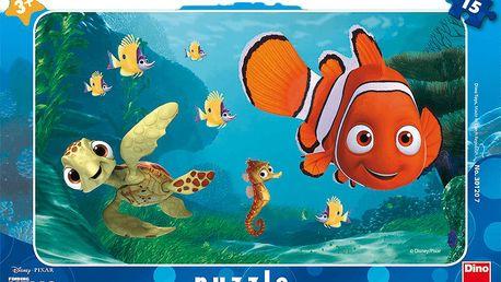 DINO Deskové Puzzle Nemo a želva (15 ks)