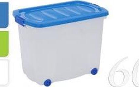 Úložný box pojízdný s klip víkem 60 l plast, bílý ProGarden KO-Y54630120bila