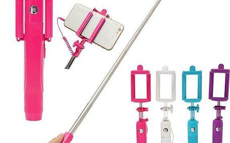 Teleskopická selfie tyč ve čtyřech barvách