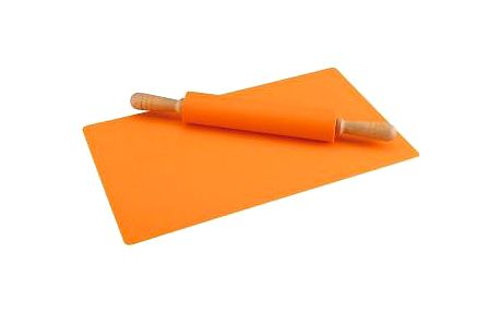 Vál silikonový s válečkem, oranžová RENBERG RB-3750oran