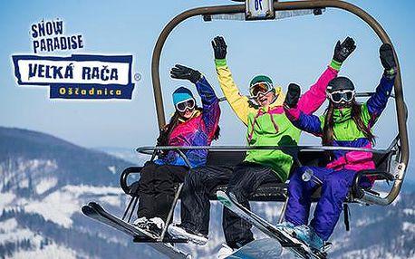 Celodenní skipas na sezónu 2016/2017 v Snowparadise Veľká Rača Oščadnica nebo slevová karta na služby v regionu Kysuc