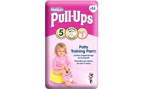 HUGGIES® PULL-UPS vel.5 (11-18kg) dívčí tréninkové kalhotky