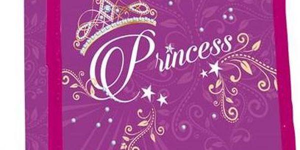 Stil dvoupatrový prázdný Princess růžový/fialový
