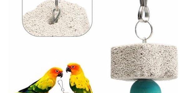 Závěsná hračka se zvonkem pro papoušky