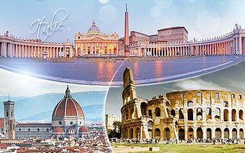 Itálie: Řím, Vatikán a Florencie! 4denní zájezd pro 1 osobu s 1 nocí a snídaní, 15.-18.9.
