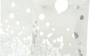 Sada 8 papírových sáčků Glassine Silver Dot