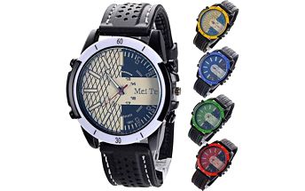 Pánské hodinky s gumovým páskem - 5 barev