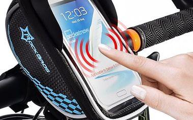 Brašna pro cyklisty s průzorem na smartphone